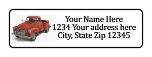 800 Old Red Truck Personalized Return Address Labels 1 2 Inch By 1 3 4 Inch