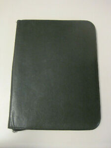 Wilsons Leather 10 X 13 5 Black Leather Zip Portfolio Guc