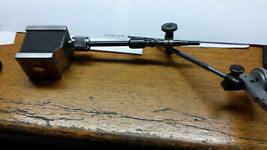 Starrett No 657 Magnetic Base Indicator Stand W fine Adj And Holding Attachment