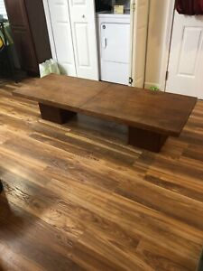 1960 Danish Modern Teak Sliding Coffee Table John Keal Brown Saltman