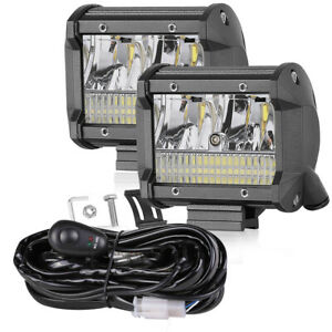 Wiring Loom Kits 4 Led Work Light Bar Spot Flood Pods Driving Off Road Truck