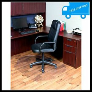 42x56 In Clear Vinyl Rolling Chair Mat Lip Home Office Desk Hard Floor Protector