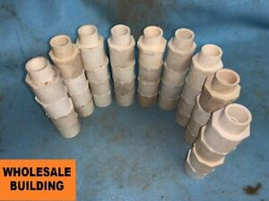 Pvc 1 2 Pipe Fitting Reducing Male Adapter Sch 40 lot Of 40