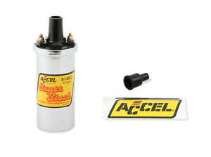 Accel 8140c Accel Ignition Coil Chrome 42000v 1 4 Ohm Primary Points