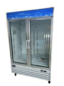 2 Door Glass Refrigerator Double Door Beverage Cooler Drink New Clear Display