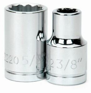 1 2 Drive Shallow 6 point Sockets Sae High polished Chrome Finish Williams