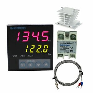 Inkbird F Display Pid Temperature Controllers Thermostat Heat Sink Solid State