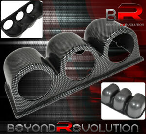 Racing Monitor Pod 3 Holder Triple Gauge Carbon Fiber Vip For Scion For Subaru