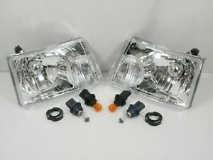 New For 2001 2011 Ford Ranger Headlights Headlamps Pair Left Right