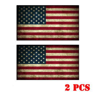 Usa American Flag Sticker Decal Car Truck Laptop Motorcycle Cup Bumper Nostalgia