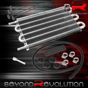 10 X 7 5 X 0 75 Racing Universal Power Steering Oil Transmission Cooler Silver