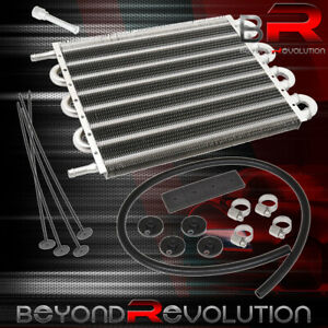 12 X 10 X 0 75 Racing Universal Power Steering Oil Transmission Cooler Silver