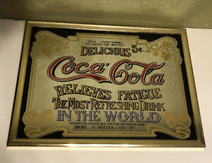 Vintage Framed COCA COLA Mirror Sign