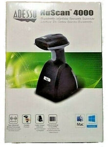 Adesso Nuscan 4000 B Bluetooth Wireless Portable Barcode Scanner Store Business
