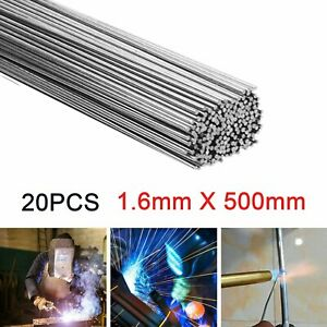 Easy Melt Welding Rods Low Temperature Aluminum Wire Brazing 20pcs 1 6mm 500mm