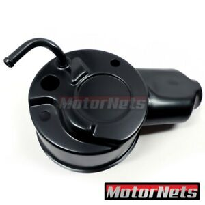 Black Gm Chevy Saginaw Power Steering Pump Cylindrical Reservoirs Only Hot Rod
