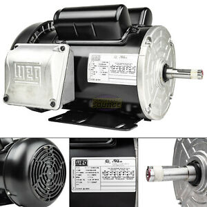 2 Hp Air Compressor Electric Motor 56h Frame Tefc 3600 Rpm Single Phase Weg