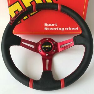 350mm Drifting Pvc Deep Dish Steering Wheel For Momo Hub Omp Hub Boss Kit Racing
