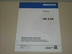 Wacker Gs 5 6a Generator Operators Manual Illustrated Parts Book Honda Engine