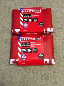 Lot Of 2 Craftsman Red Fender Cover 34 Inch X 26 Inch Made In The Usa Both New