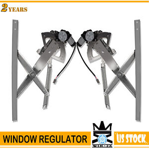 Front Left Right Power Window Regulator W Moto 2pcs For 91 01 Ford Explorer