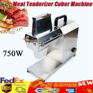 Stainless Steel Meat Tenderizer Cuber Machine Kitchen Cooking Beefsteak 750w New