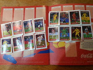 Panini Euro 2016 Coca Cola complete set 16 stickers from the bottle  ultra rare