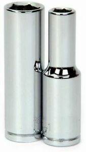 1 2 Drive Deep Sockets 6 Point Metric High Polished Chrome Finish Williams