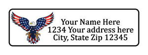800 Bald Eagle Personalized Return Address Labels 1 2 Inch By 1 3 4 Inch