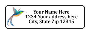 800 Hummingbird Personalized Return Address Labels 1 2 Inch By 1 3 4 Inch