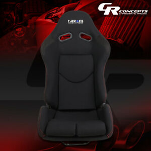 Nrg Innovations Rsc 400bk Fiberglass Frame Fabric Cover Reclinable Racing Seat