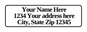 400 Personalized Return Address Labels 1 2 Inch By 1 3 4 Inch