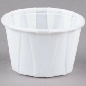 Solo Paper Souffle Condiments 1 2oz Pack Of 250 Waxed Paper Cups
