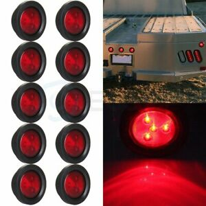 10x Side Marker Red 2 5 Inch Round Clearance Running Light For Truck Trailer