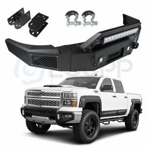 Steel Front Bumper Assembly For 2007 2010 Chevy Silverado 1500 Sierra 1500 Guard