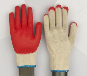 Wholesale 300 Pairs Red Latex Rubber Palm Coated Work Gloves Made In Korea