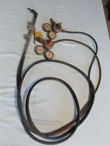 Vintage Smiths Cutting Torch Outfit Ac 309 Torch Hose And Regulators