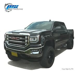 Paintable Pop Out Style Fender Flares Fits Gmc Sierra 1500 2016 2018 Full Set