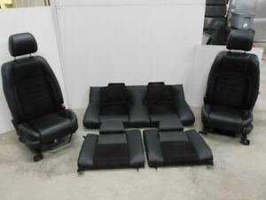 2013 2014 Ford Mustang Gt Black Leather California Special Seat Set Oem