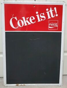 1970/1980s Coca Cola menu board SIGN