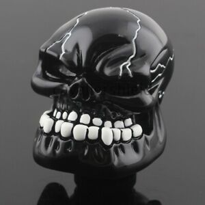 Universal Black Skull Head Car Truck Manual Gear Mount Shift Knob Shifter Lever