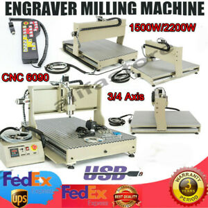 2 2kw 1 5kw Usb 6090z Engraver Cnc Router Engraving Drill Milling Machine Metal