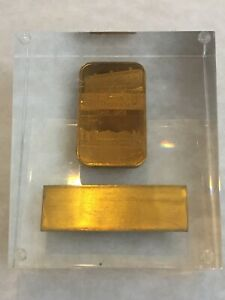 CocaCola Columbus 1oz bar 24K Gold Plated GP (Silver or Bronze?) Type 2 75th Ann