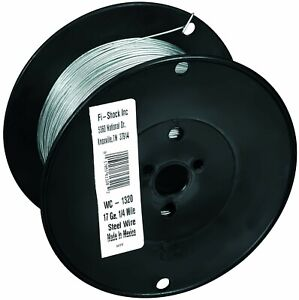 Fi shock Wc 1320 1 4 Mile 17 Gauge Spool Galvanized Steel Wire