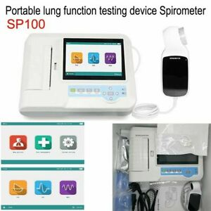 Sp100 Digital Spirometer Lung Function Pulmonary Device Breathing Diagnostic