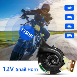 Universal Loud 12v Electric Snail Air Horn Raging Sound For Car Boat Motorcycle