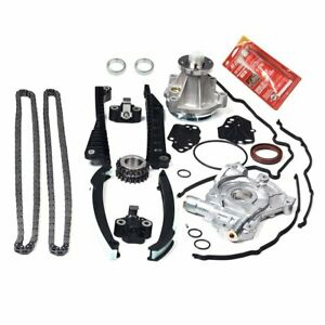 Timing Chain Oil water Pump cover Gasket For 04 08 Ford F150 Lincoln 5 4l Triton