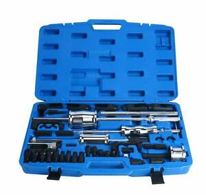 40pc Diesel Injector Extractor Slide Hammer Puller Tool With Common Rail Adaptor