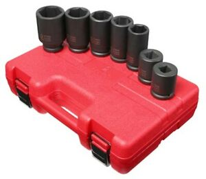 Sunex 7pc 3 4 Metric Impact Sockets Set Truck Service Tools Mm Deep Square 4070m