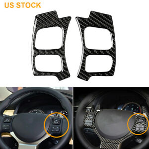 Carbon Fiber Steering Wheel Button Sticker Cover For Lexus Is250 300 350 2014 17